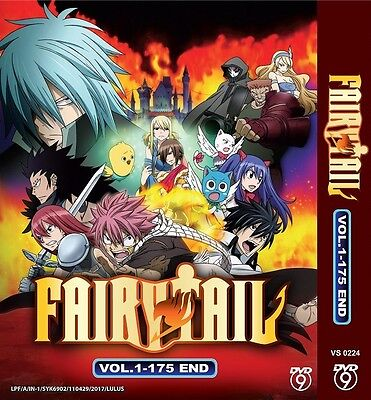 MEGA Pack FAIRY TAIL | Series 1+2+3+Movie 1+2 | Eps.1-279 | 13 DVDs in 3 Sets