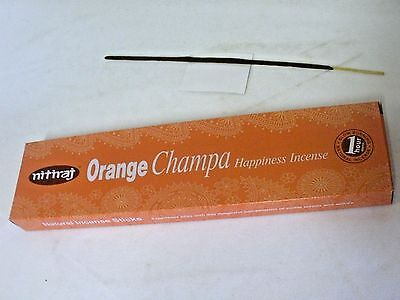 Nitiraj Orange Champa Incense Sticks - Happiness - 25 Grams