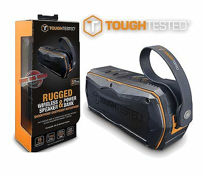 Tough Tested Rugged Bluetooth Speaker with Built-in Power Bank TT-SP4000