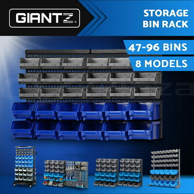Giantz Bin Rack Storage Shelving Workshop Garage Warehouse Tools Parts Organiser