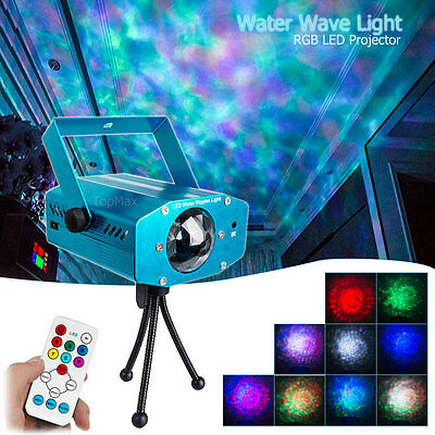 RGB Water Wave Projector DJ Disco LED Light Stage Party Laser Lighting Show UK