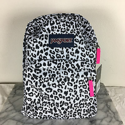 Jansport Superbreak Backpacks White Leopard 100% AUTHENTIC School backpack bags