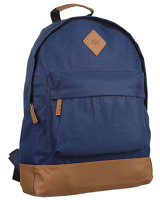 NEW Mens & Boys Blue Backpack Rucksack Bag - SPORT SCHOOL TRAVEL 214 BORDERLINE