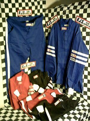 #25 RJS Race driving fire Suit BLUE-RED-BLACK Uniform oval-drag race FORD CHEVY