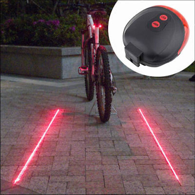 Accessories Cycling Bike Tail Lamp Red Beam Light Safety Warning 5 LED 2 Laser