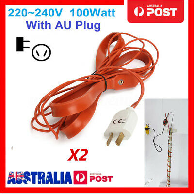 2X 100W Home Brew Heating Belt Heater 1M For Wine Beer Spirit Ferment Pail Wire