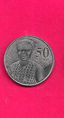 Ghana Km41 2007 Unc-Uncirculated Large Modern 50 Pesewas Coin