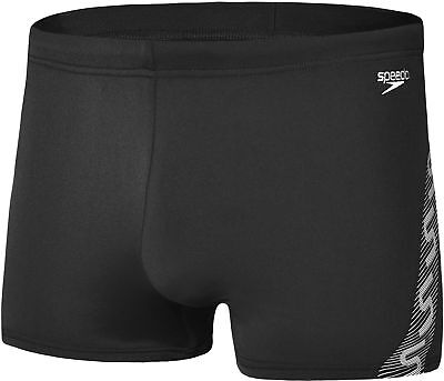 Speedo Monogram Mens Swimming Aquashort - Black