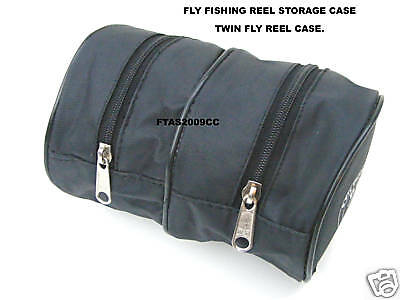 Fly Reel Case Twin Case Black Soft Case For Fly Reels Free Post