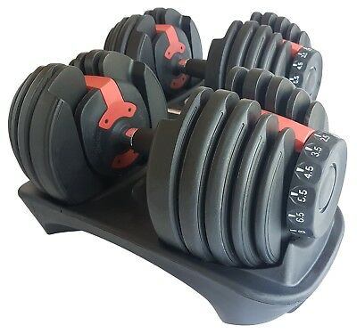 Adjustable Dumbbell Set Selectable Dumbbells 24kg 40kg Weights