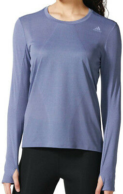 adidas Supernova Long Sleeve Ladies Running Top - Purple
