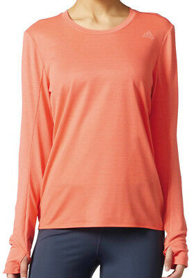 adidas Supernova Long Sleeve Ladies Running Top - Orange