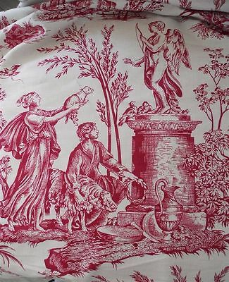 French Vintage  Toile De Jouy  Cotton For Pillows Or Bags
