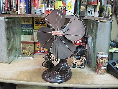 "Westinghouse Pacemaker Electric Fan 10"" Oscillating Vintage Mid 1900's Art Deco"