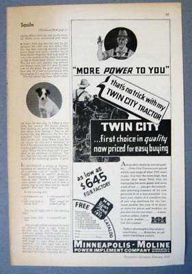 Original 1935 Minneapolis MolineTwin City Tractor Ad FIRST CHOICE IN QUALITY