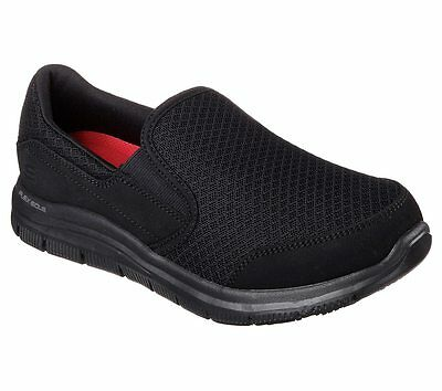 Skechers Work Wide Width Black shoes Women Memory Foam Slip Resistant Safe 76580