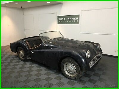 1958 Triumph TR3 Roadster 1958 TRIUMPH TR3A SPORTS ROADSTER. RED ON RED. VERY GOOD CAR FOR RESTORATION.