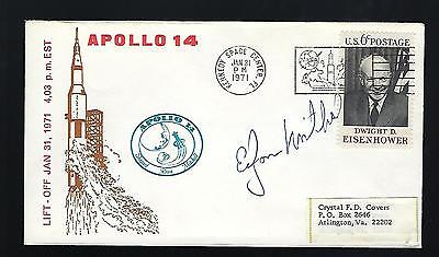 Edgar Mitchell Signed postal cover NASA Astronaut Space Exploration