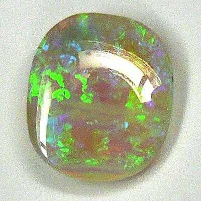 Super 6.8 carat Natural White PRECIOUS OPAL Carved Cabochon Very TRANSPARENT