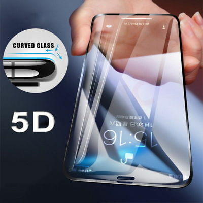 5D Curved Full Tempered Glass Screen Protect For iPhone XS Max XR X 8 6 7 11 Pro