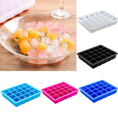 20-Cavity Large Ice Cube Tray Pudding Jelly Maker Mold Square Mould Silicone DIY