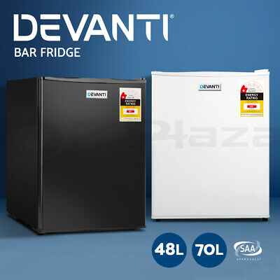 Devanti Portable Mini Bar Fridge Home Office Refrigerator Freezer 48/70/95L