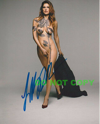 "REPRINT RP 8x10 Signed Autographed Photo: ""Nude Body Art""Lake Bell -The Practice"