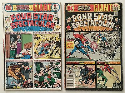 Four Star Spectacular Giant #s 1 and 2 Bronze Age 1976 DC Comics VG 4.0