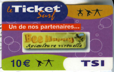 Ticket Surf Biene Happy Nicht Telefonkarte Leer 30/09/2007