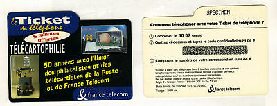 Ticket Telefon Briefmarken Karte Code Probe Mariane