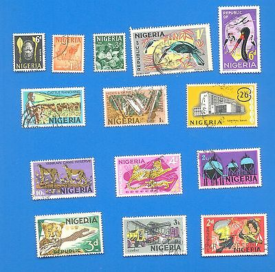 Nigeria.14 Used Stamps