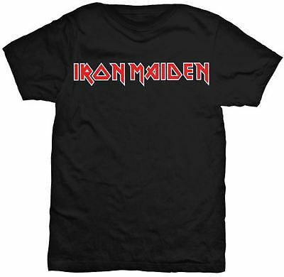 IRON MAIDEN Classic Band Logo T-SHIRT OFFICIAL MERCHANDISE