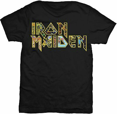 IRON MAIDEN Classic Band Logo Eddie T-SHIRT OFFICIAL MERCHANDISE