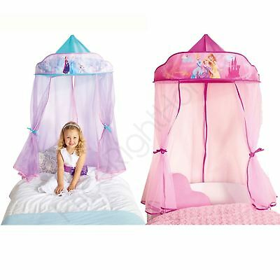 Disney Princess Frozen Hanging Bed Canopy Fairytale Style Girls Bedroom