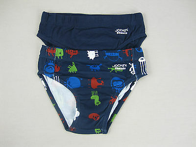 Jockey Boys 2 Pack Cotton Skants Briefs Underwear size 4 5 Colour Blue