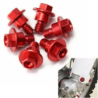 Set 6 Pcs CNC Red Bolt Fork Guard Fit For Honda CRF250/125/450/XR250/400/CR85R