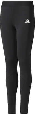adidas Wrap Girls Long Training Tights - Black