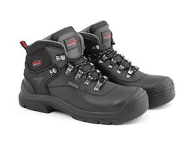 Arma A5 Spartan Waterproof Black Leather Work Safety Boots Steel Toe Mid Sole