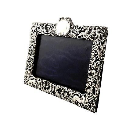 Antique Victorian Sterling Silver Photo Frame - 1898