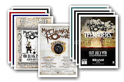MY CHEMICAL ROMANCE  - 10 promotional posters - collectable postcard set # 2