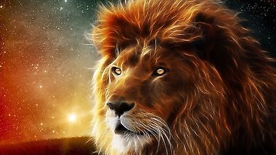 LION SPIRIT ANIMAL 24X36 inch Poster, wall decor, king of the jungle
