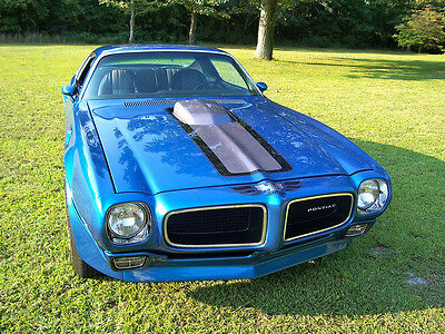 1972 PONTIAC TRANS AM POSTER 24 x 36 INCH | BLUE | COOL!