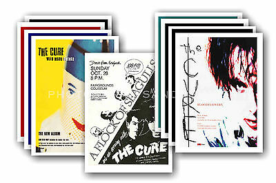 THE CURE  - 10 promotional posters - collectable postcard set # 1