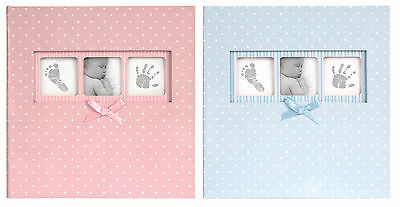 Baby Boy Photo Album Polka Dot Blue Photo Album Holds 200 Photos with Memo Area