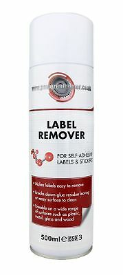 Powerenhancer Label Remover for Self-Adhesive Labels & Stickers - 500ml Aerosol