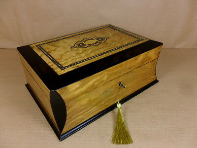 Antique Wych Elm Jewellery/sewing Box. French 2Nd Empire.(Victorian) C1870 (C430