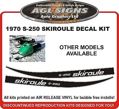 1970 SKIROULE S-250 DECAL KIT  REPRODUCTIONS  SE-300 S-300 sx-340 sxr-340