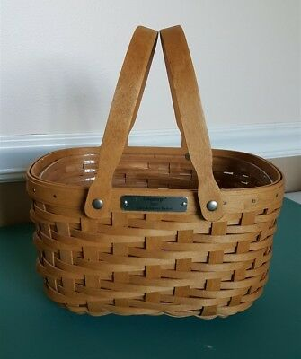 Longaberger 2007 SALES ACHIEVER BASKET Double Swing Handles With Protector