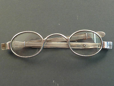 Pair Of Georgian Silver Telescopic Arms Wig Spectacles