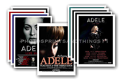 ADELE  - 10 promotional posters - collectable postcard set # 2